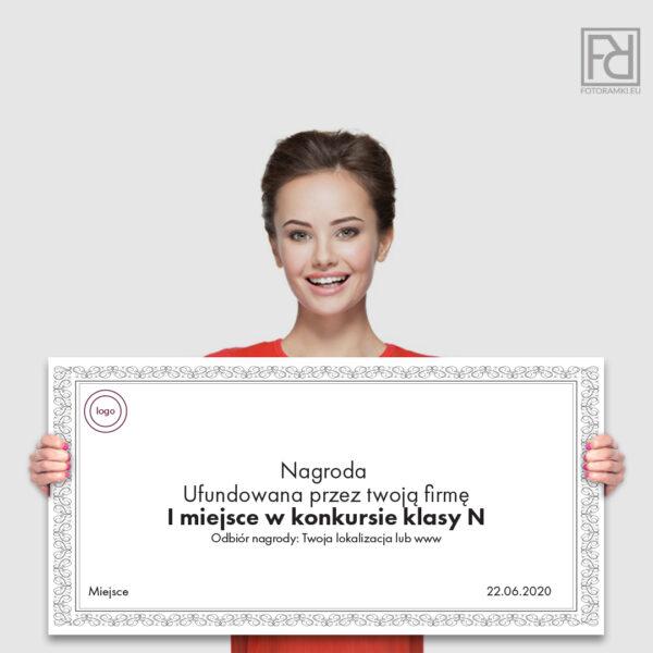 Wielki Voucher / Nagroda / Bon z nadrukiem